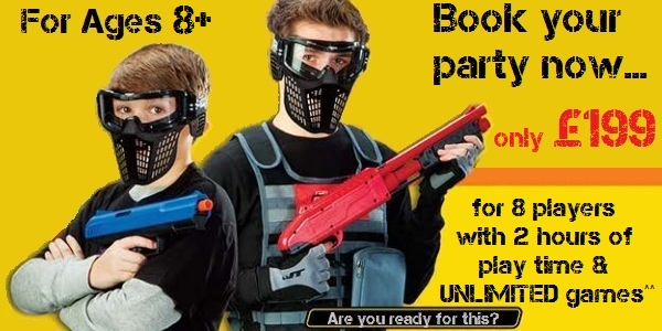 low impact miniball paintballing parties