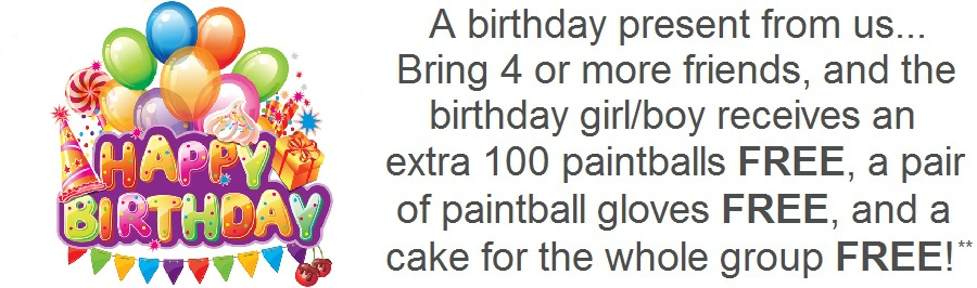 paintball birthday special offer